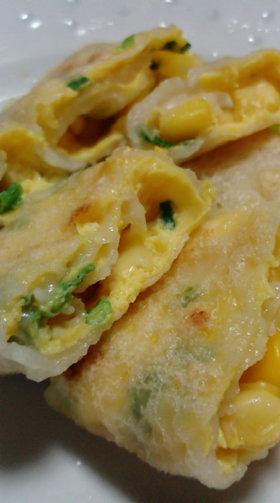 卵×粉で朝ごはん 台湾の蛋餅風