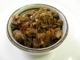 ピリ辛 牛肉のしぐれ煮 生姜 鷹の爪