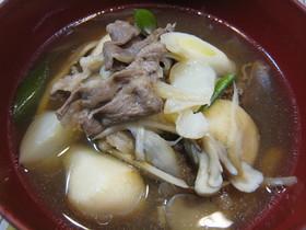 山形の芋煮☆牛肉・醤油味