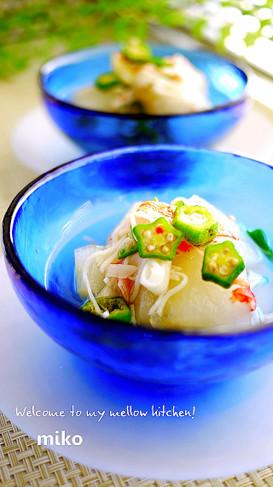 冬瓜と蟹かまぼこのオクラあん(煮物)
