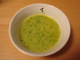 【猫ごはん】黄緑色の野菜スープ