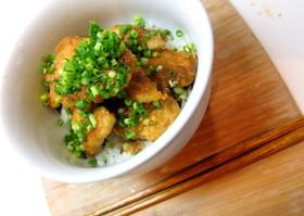 ☆簡単★鶏ササミガーリック丼☆