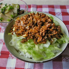 簡単!ひき肉と玉ねぎのカレー丼