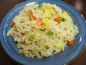 炊飯器で楽②パラ②~♫ カニ炒飯