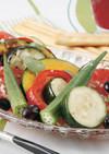 焼き野菜の黒酢黒豆マリネ