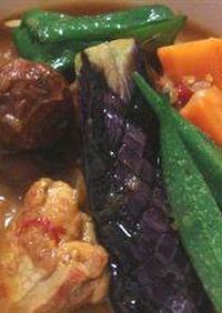 カレー粉と細粒ダシで作る簡単スープカレー