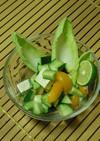 カボスドレッシングの簡単サラダ