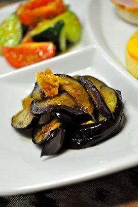マクロビ精進料理に習ったお茄子の生姜醤油