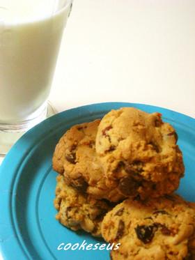 クランベリーinチョコチップクッキー♪