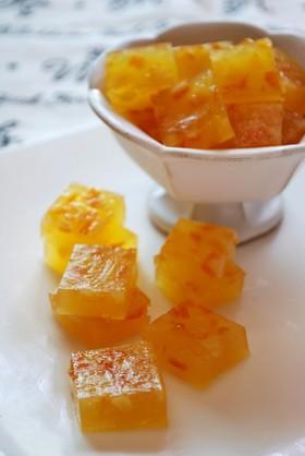 オレンジのグミ
