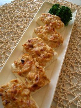 豆腐のツナ味噌焼き