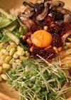 韓国風肉味噌で♡本場の味!野菜ビビンバ