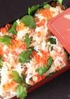 敬老の日✿かに缶で豪華に見えるちらし寿司