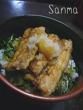 醤油タレたっぷり☆さんま丼