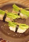おうちでカンタン、おしゃれな芽ねぎ寿司♪