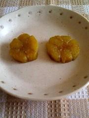 お弁当に 茄子のお花の写真