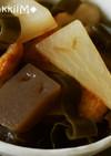 ぬりかべ蒟蒻と一反もめん大根の簡単煮物