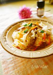 カレーに合う♪炊飯器で牛蒡クミンピラフ風の写真