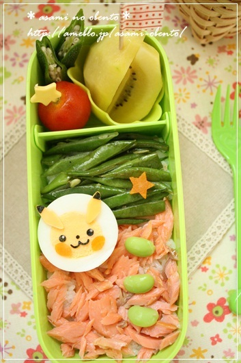 キャラ弁☆ゆで卵de簡単ピカチュー