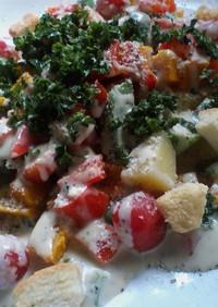 温野菜のシーザーサラダ風。