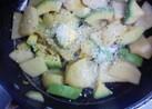 アボカドとジャガイモの炒めてポン酢