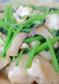 鶏胸肉と小松菜の中華炒め煮♪