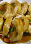 鶏ムネ肉の野菜巻き☆照りダレで♪