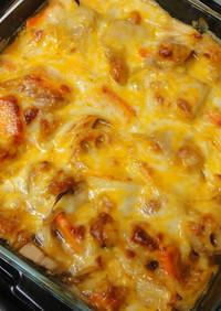 鶏と野菜の和風チーズ焼き