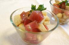 マグロと長芋☆オリーブオイルマリネ