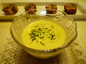 夏のおもてなし♪トウモロコシの冷製スープ