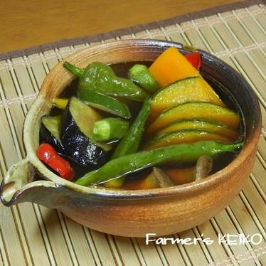 【農家のレシピ】夏野菜の揚げびたし