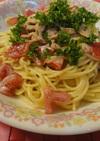 ツナとトマトで簡単マヨしょうゆパスタ