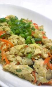 凍っちゃった豆腐で炒り豆腐の写真