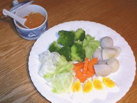 温野菜のガトガト風サラダ