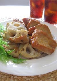 豚肉と蓮根の味噌バター焼き