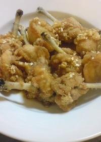 紅虎餃子房の油淋鶏(ユーリンチー)のマネ