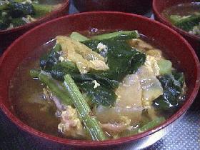 キムチと小松菜のスープ