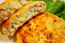✿鮭と豆腐のチーズ入りハンバーグ✿