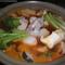 韓国風魚貝類のピリ辛鍋
