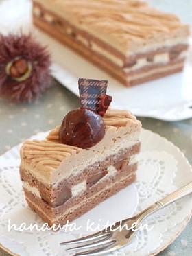 モンブラン風マロンケーキ