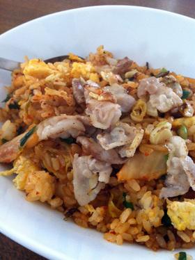 カリカリ豚バラのキムチ炒飯