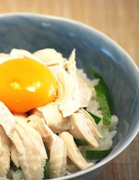 鶏ささみ卵かけご飯
