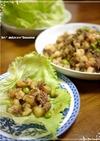 台湾の味★豚肉海老の甘辛そぼろレタス包み