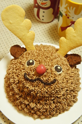 赤鼻トナカイさんのクリスマスケーキ★