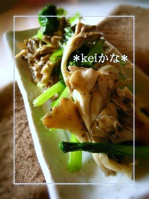 ★簡単★舞茸と小松菜のにんにく炒め