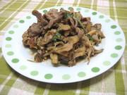 すっぱ旨♡豚肉ときのこの梅肉大葉炒めの写真