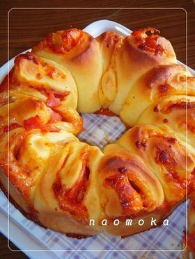 ピザの♡リングパン