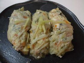 豆腐だんごの白菜巻き