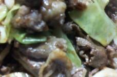 牛肉とキャベツのオイスター炒め