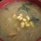 クリームシチューでコーン入り味噌汁